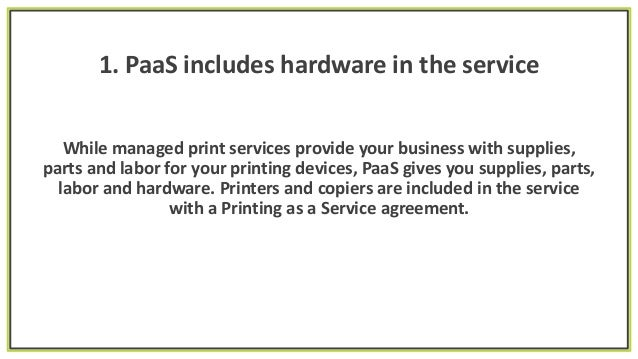 3 Financial Benefits Of Printing As A Service Paas