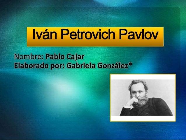 ivan pavlov essay