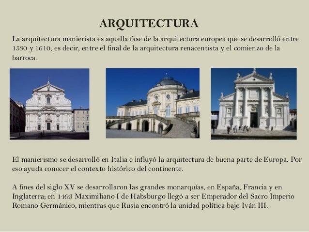 Manierismo Arte Y Arquitectura