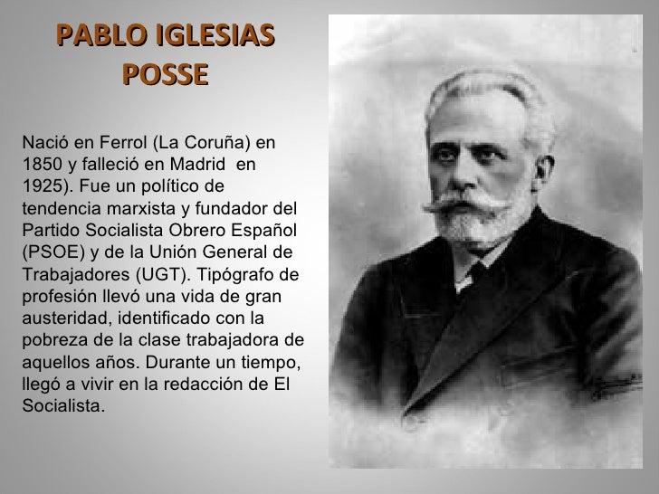 Resultado de imagen de Pablo Iglesias y Largo Caballero