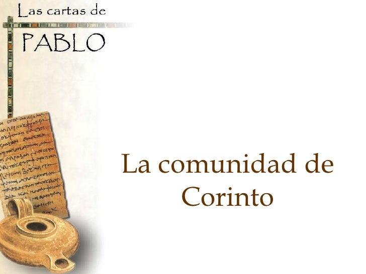La comunidad de Corinto