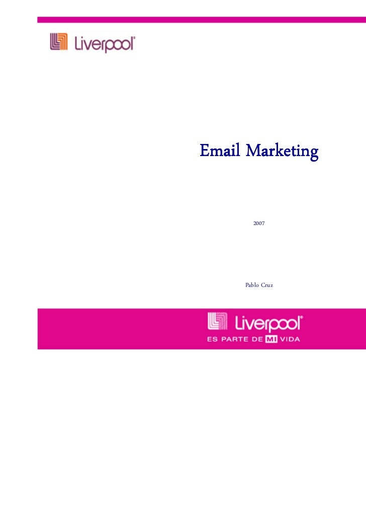 Email Marketing       2007     Pablo Cruz