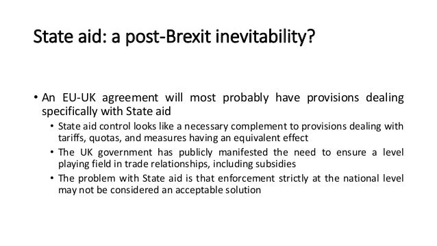 Pablo Ibanez Colomostate Aid And Brexitthe Institutional Dimension