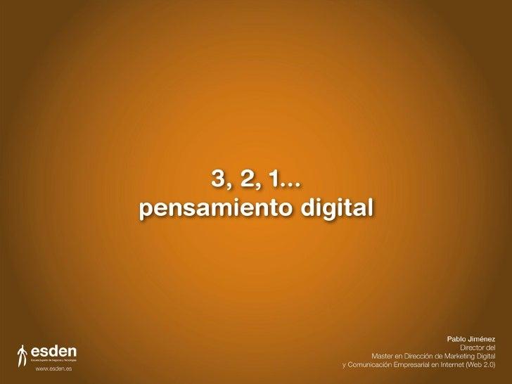 HOLA       pablo jiménez       Director del Master en Dirección       de Marketing Digital y Comunicación       Empresaria...