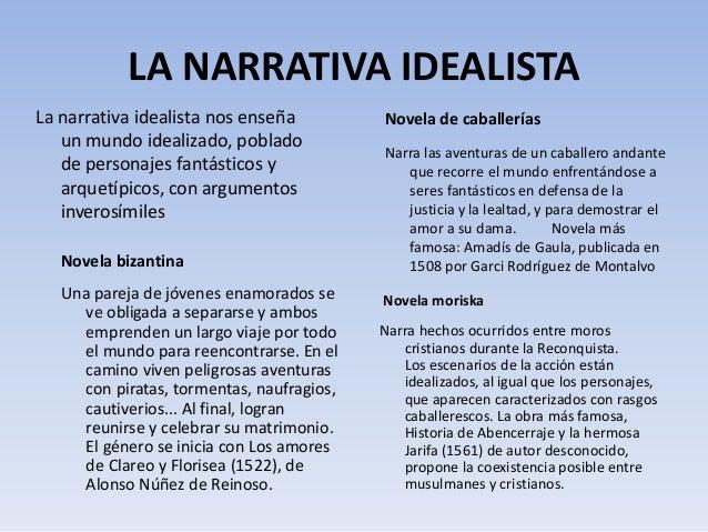 Resultado de imagen de narrativa idealista