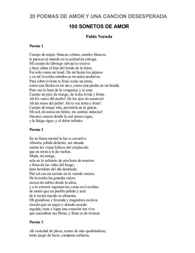 Pablo Neruda 20 Poemas De Amor