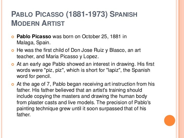 Pablo picasso slides