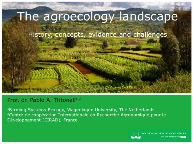 the agroecology landscape
