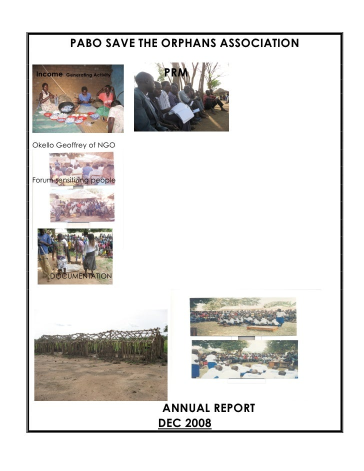 PABO SAVE THE ORPHANS ASSOCIATION   Income   Generating Activity   PRM     Okello Geoffrey of NGO    Forum sensitizing peo...