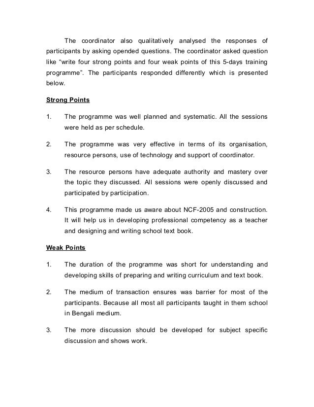 Curriculum development essay