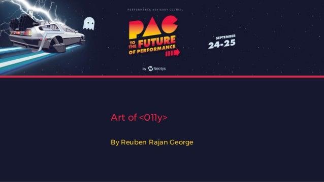Art of <011y> By Reuben Rajan George