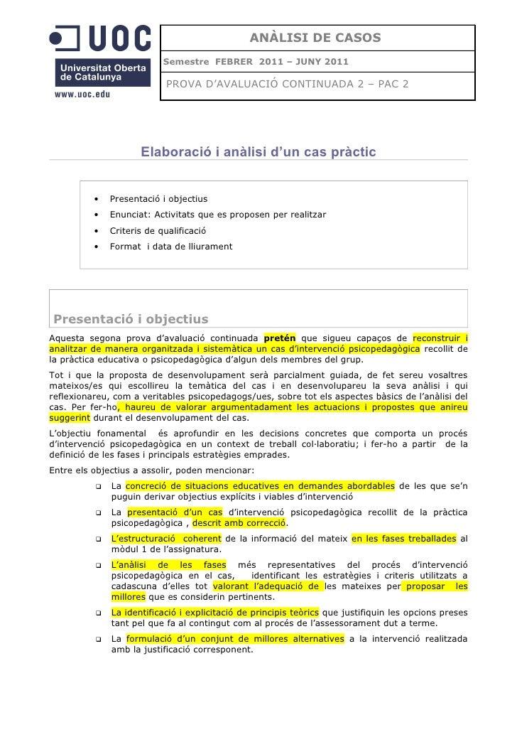 Analisi de casos PAC 2 UOC enunciat