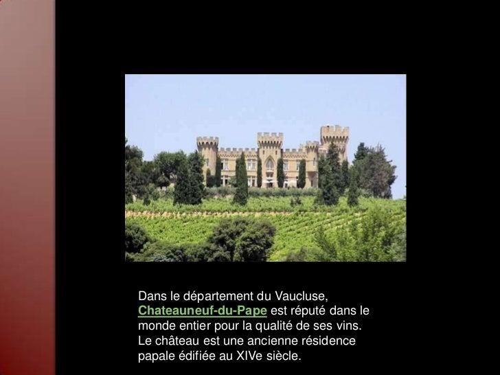Provence alpes c te d 39 azur - Office de tourisme chateauneuf du pape ...