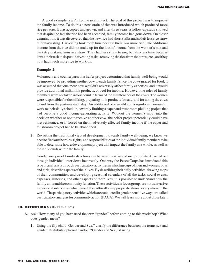 participatory analysis for community action paca training manual  19