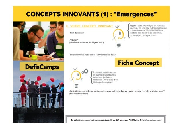 CONCEPTS INNOVANTS (2) : Expo, pitch, jury