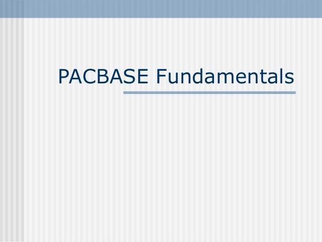 PACBASE Fundamentals