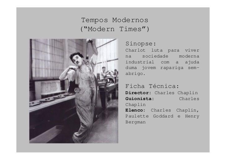 Groß Resumo Tempos Modernos Charlin Chaplin Ideen - Entry Level ...