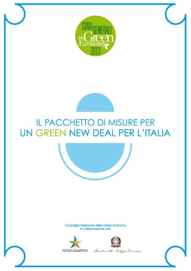 Pacchetto di misure per un green new deal in Italia