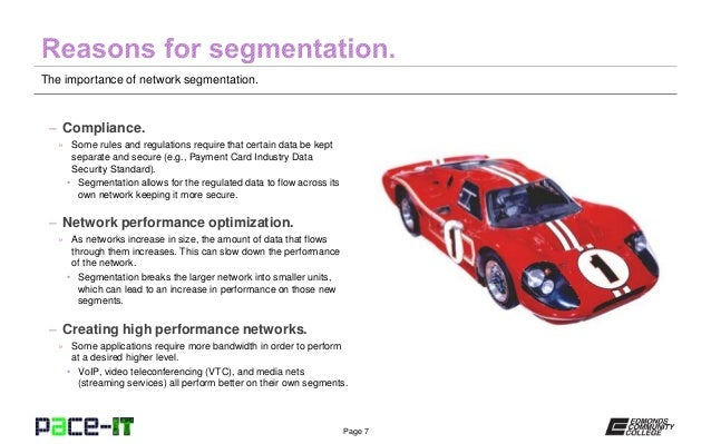 PACE-IT: The Importance of Network Segmentation