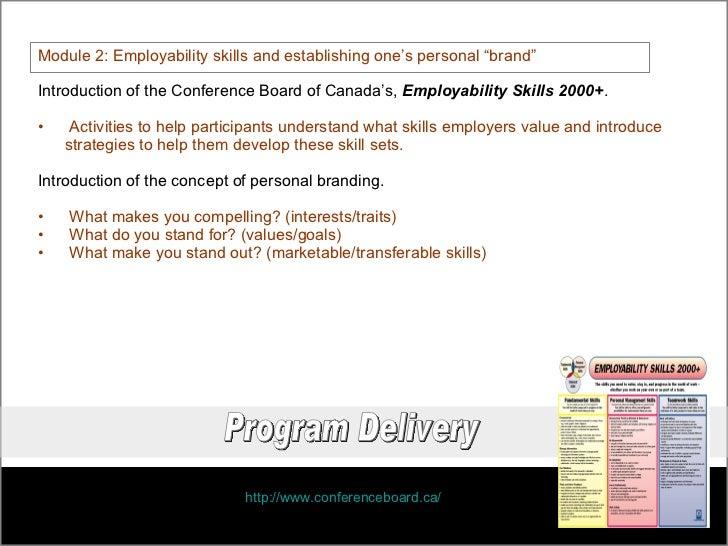 conference board of canada employability skills 2000