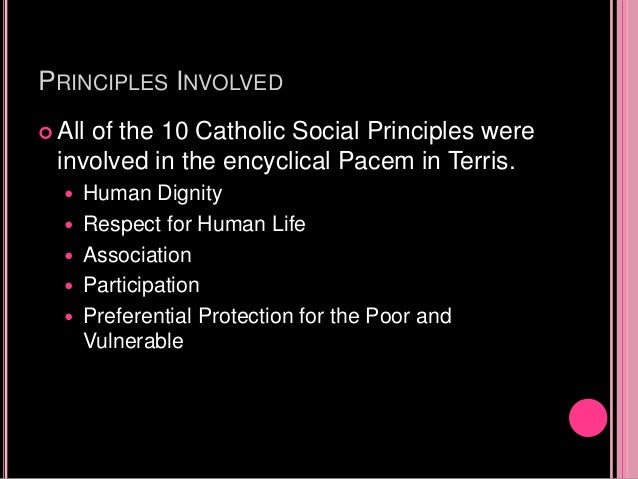pacem in terris summary This is a summary of the document pacem in terris.