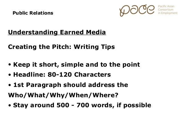 Marketing Essentials: Public Relations/Earned Media