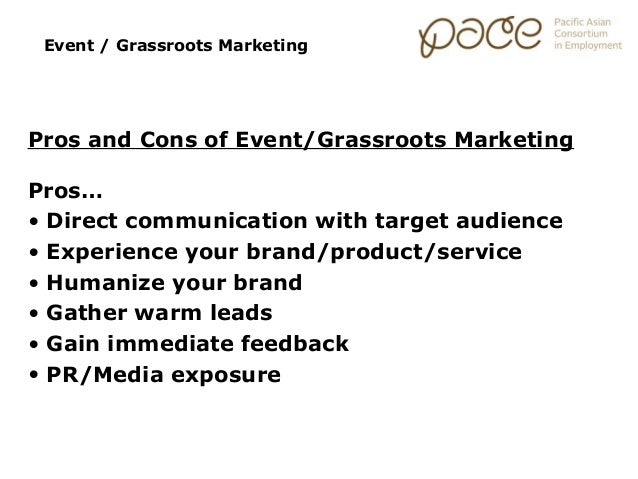 Marketing Essentials: Grassroots and Event Marketing
