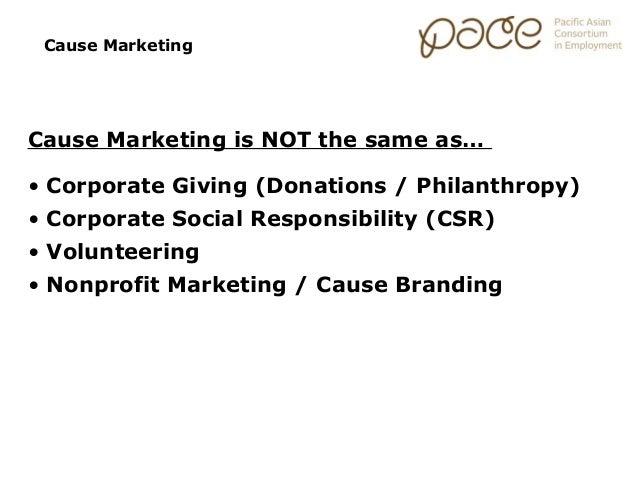 Marketing Essentials: Cause Marketing