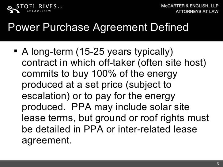 Power Purchase Agreement ...