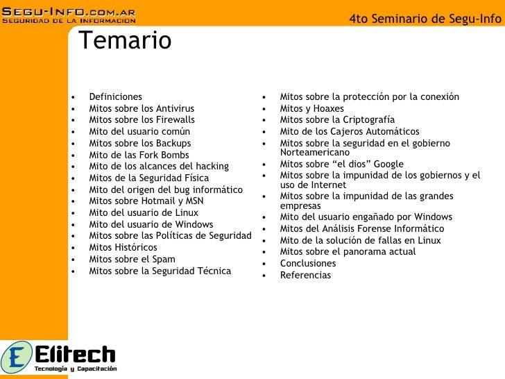 Pacheco Cazadores Mitos Seguridad Informatica Slide 2