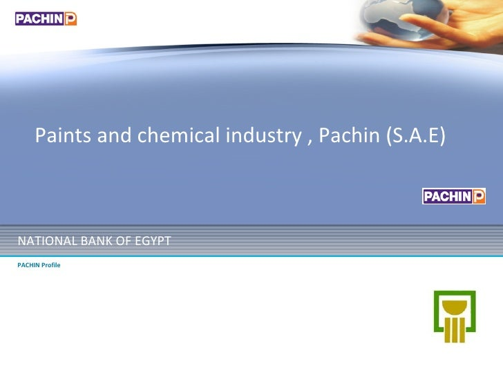 NATIONAL BANK OF EGYPT PACHIN Profile Paints and chemical industry , Pachin (S.A.E)