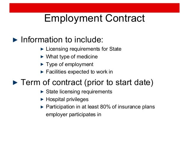 Physician Contract from Recruitment to Retirement – Physician Employment Agreement