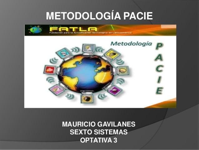 METODOLOGÍA PACIEMAURICIO GAVILANESSEXTO SISTEMASOPTATIVA 3