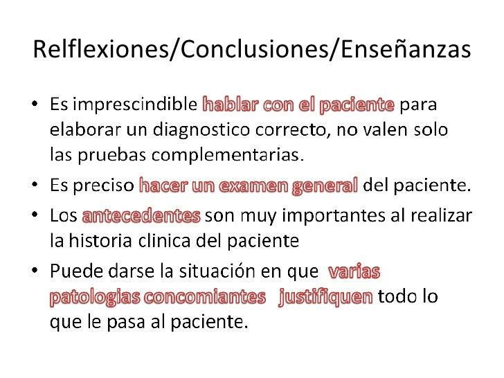 Relflexiones/Conclusiones/Enseñanzas