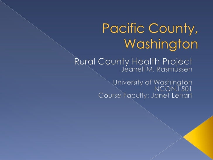    To understand key, high -     level county background     information    To identify and prioritize     county health...