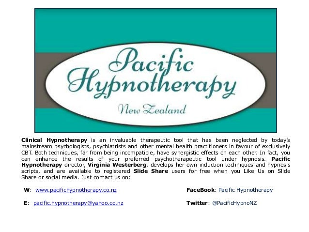 Clinical Hypnotherapy is an invaluable therapeutic tool that has been neglected by today's  mainstream psychologists, psyc...
