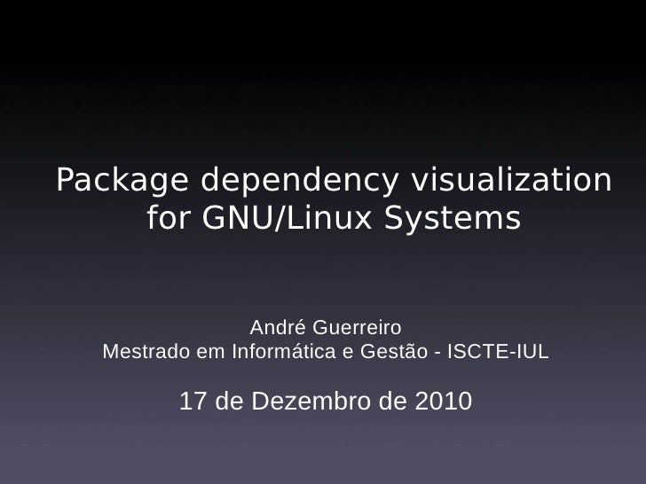Package dependency visualization for GNU/Linux systems