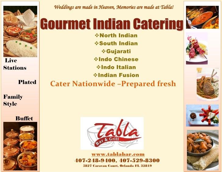 Tabla Indian Restaurant Menu