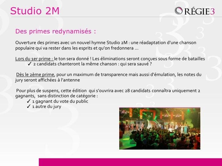 Studio 2MDes primes redynamisés :Ouverture des primes avec un nouvel hymne Studio 2M : une réadaptation d'une chansonpopul...