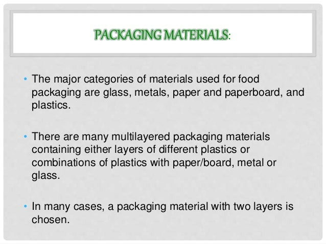 Food packaging food processing technology for Use of waste material