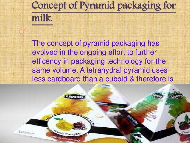the concept of pyramid packaging for milk The milk market is witnessing another white revolution – in  all these trends  spell good news for tetra pak, the swedish liquid foods processing and  packaging company,  even at the top of the pyramid, singh says they are  constantly  investors with a short-term perspective can buy the stock of rico.