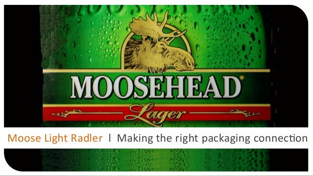 Moose  Light  Radler    l    Making  the  right  packaging  connec4on