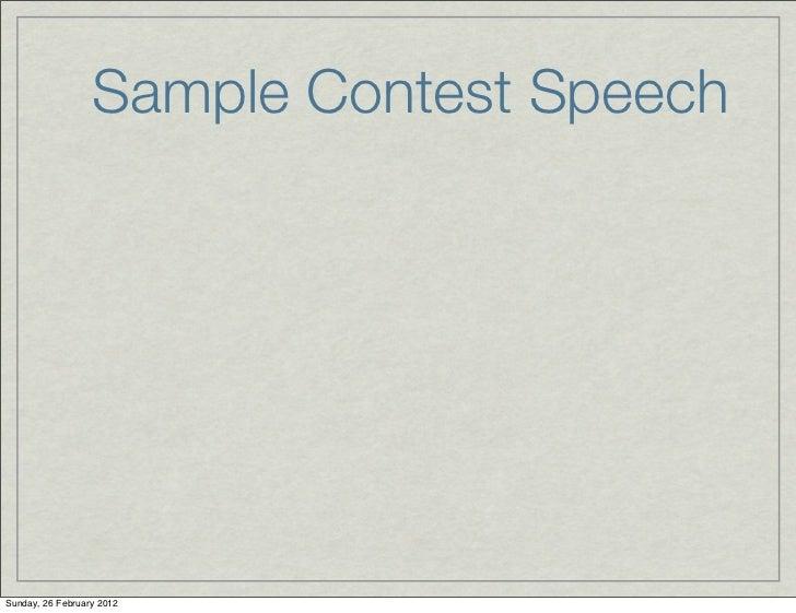Packaging a winning table topics contest speech