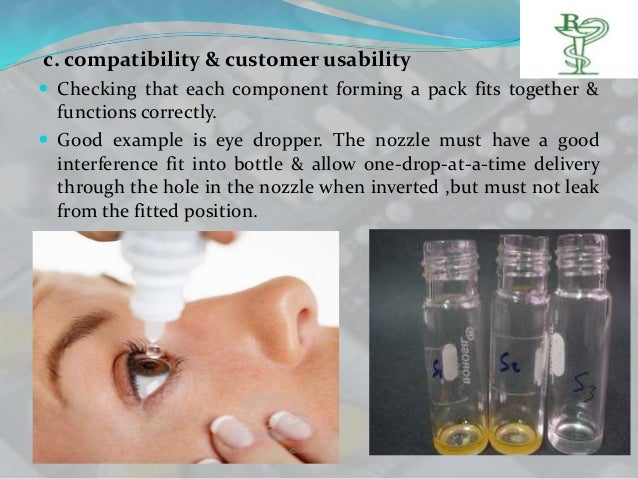 c. compatibility & customer usability Checking that each component forming a pack fits together &  functions correctly. ...