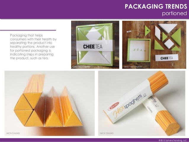 DYO YEE CHUNG PACKAGING TRENDS portioned Packaging that helps consumers with their health by separating the product into h...