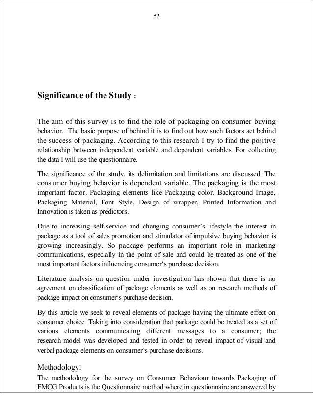 consumer behaviour towards packaging pdf