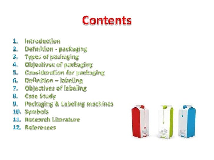 packaging and labeling essay