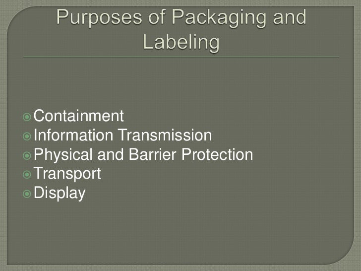 Packaging processes and equipments Slide 3