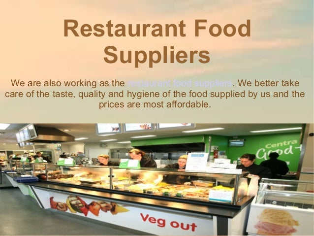 Restaurant food suppliers