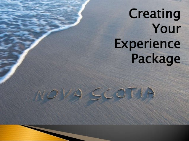 Creating Your Experience Package